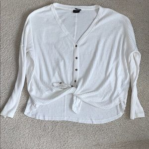 White Button Down Thermal